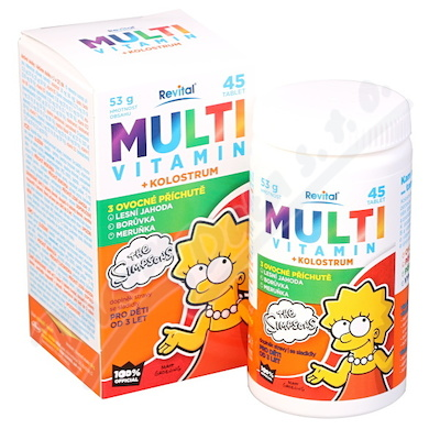 The Simpsons Multivitamin + kolostrum tbl.45