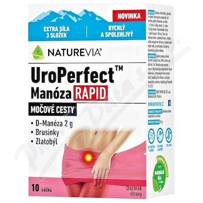 Swiss NatureVia UroPerfect Manóza Rapid 10 sáčků